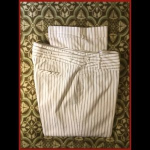 Cute Pinstripe Crop Pants, sz 12